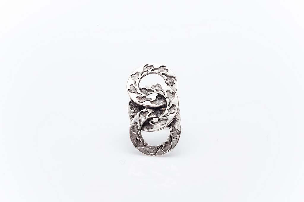 Посребрен пръстен КН-0303004026