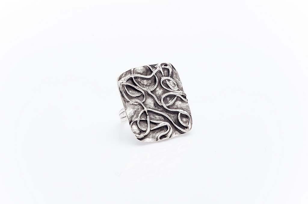 Посребрен пръстен КН-0303004027