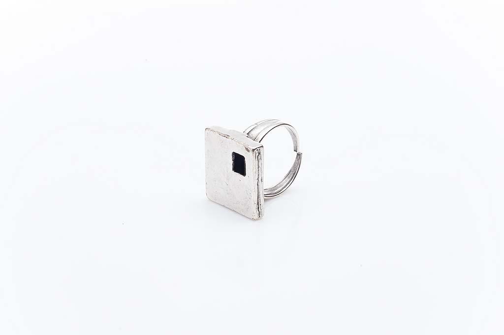 Посребрен пръстен КН-0303004038