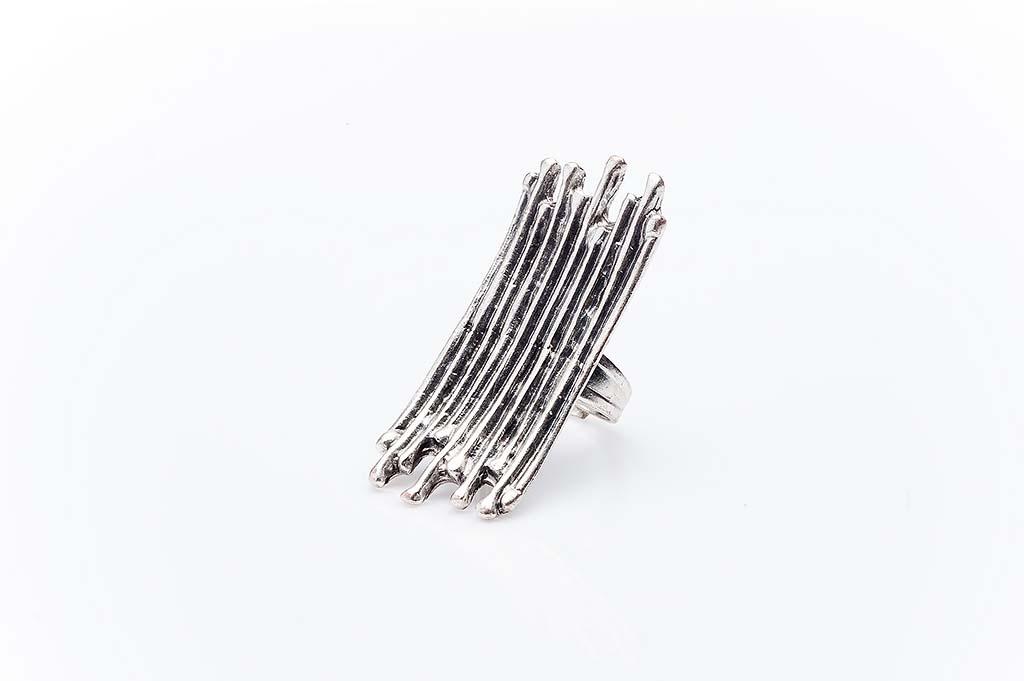 Посребрен пръстен КН-0303004043