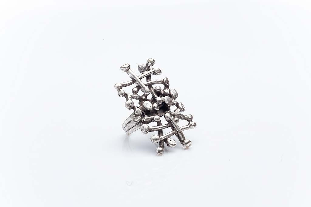 Посребрен пръстен КН-0303004052