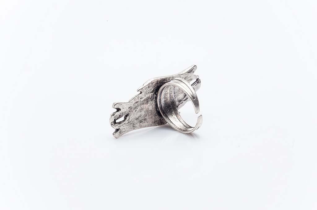 Посребрен пръстен КН-0303004056